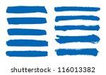 blue vector brush strokes... | Shutterstock .eps vector #116013382