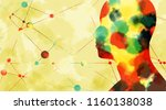 silhouette of a man's head.... | Shutterstock . vector #1160138038