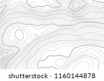 vector contour topographic map... | Shutterstock .eps vector #1160144878