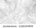 vector contour topographic map... | Shutterstock .eps vector #1160144905