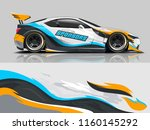 car wrap graphic racing... | Shutterstock .eps vector #1160145292