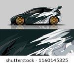car wrap graphic racing... | Shutterstock .eps vector #1160145325