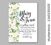 floral wedding vector... | Shutterstock .eps vector #1160150335
