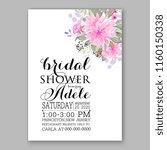 floral wedding vector...   Shutterstock .eps vector #1160150338