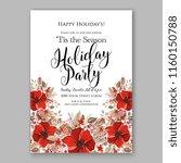 winter floral vector background ... | Shutterstock .eps vector #1160150788
