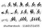bicycle accessories and... | Shutterstock .eps vector #1160151655