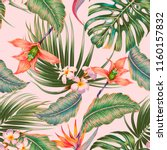 floral seamless vector tropical ... | Shutterstock .eps vector #1160157832