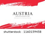 flag of austria  brush stroke... | Shutterstock .eps vector #1160159458