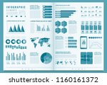 infographic elements with world ... | Shutterstock .eps vector #1160161372