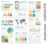 infographic elements with world ... | Shutterstock .eps vector #1160161378