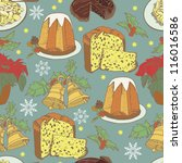 the pattern for the christmas...   Shutterstock .eps vector #116016586