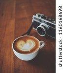 coffee latte art in coffee shop ... | Shutterstock . vector #1160168698