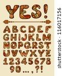 funny vector hand drawn... | Shutterstock .eps vector #116017156