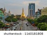 yangon  myanmar    feb 1  2017. ... | Shutterstock . vector #1160181808