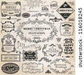 vector set  christmas... | Shutterstock .eps vector #116018245