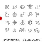 sports icons    red point... | Shutterstock .eps vector #1160190298