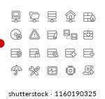 network and server icons    red ... | Shutterstock .eps vector #1160190325