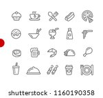 food icons   set 2 of 2    red... | Shutterstock .eps vector #1160190358