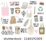 hand drawn elements of zero... | Shutterstock .eps vector #1160192305