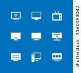hd icon. 9 hd set with... | Shutterstock .eps vector #1160193082