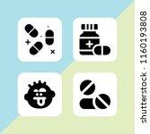headache icon. 4 headache set... | Shutterstock .eps vector #1160193808