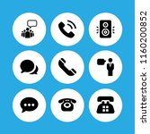talk icon. 9 talk set with... | Shutterstock .eps vector #1160200852