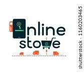 online store shopping e... | Shutterstock .eps vector #1160203465