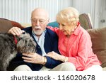 senior couple at home with... | Shutterstock . vector #116020678