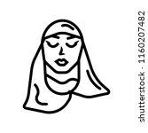 arab woman with hijab icon...   Shutterstock .eps vector #1160207482