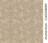 seamless pattern with floral... | Shutterstock .eps vector #1160208085