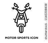 motor sports icon vector... | Shutterstock .eps vector #1160208838