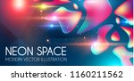 anstract neon background with... | Shutterstock .eps vector #1160211562