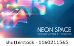 anstract neon background with... | Shutterstock .eps vector #1160211565