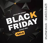 black friday sale layout... | Shutterstock .eps vector #1160211625
