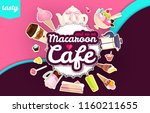 coffee and cakes. bakery  candy ...   Shutterstock .eps vector #1160211655