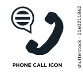 phone call icon vector isolated ... | Shutterstock .eps vector #1160211862