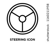 steering icon vector isolated... | Shutterstock .eps vector #1160211958