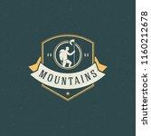 climber logo emblem vector... | Shutterstock .eps vector #1160212678