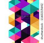 multicolored triangles abstract ... | Shutterstock .eps vector #1160215642