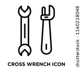 cross wrench icon vector... | Shutterstock .eps vector #1160218048