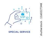 business credit card vip.... | Shutterstock .eps vector #1160227348