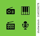 melody icon. 4 melody set with... | Shutterstock .eps vector #1160228278