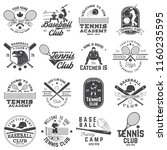 set of baseball and tennis club ... | Shutterstock .eps vector #1160235595