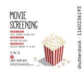 film festival vector invite...   Shutterstock .eps vector #1160236195