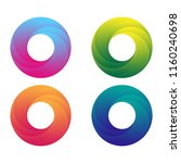 colorful swirl logo set.... | Shutterstock .eps vector #1160240698