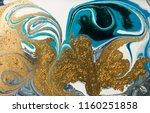 gold marbling texture design.... | Shutterstock . vector #1160251858