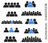 icon collection  social group...   Shutterstock .eps vector #1160253238