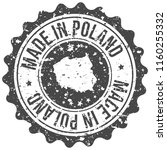 poland made in map travel stamp ... | Shutterstock .eps vector #1160255332