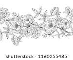 elegant seamless pattern with... | Shutterstock .eps vector #1160255485