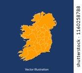 ireland map   high detailed... | Shutterstock .eps vector #1160258788